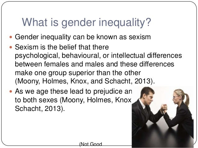 gender inequality and discrimination essay Discrimination essay outlines discrimination -sexism/gender discrimination/inequalities are still the order of the day in many countries.
