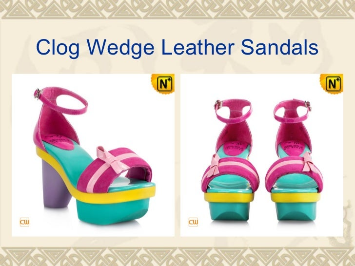 Clog Wedge Leather Sandals