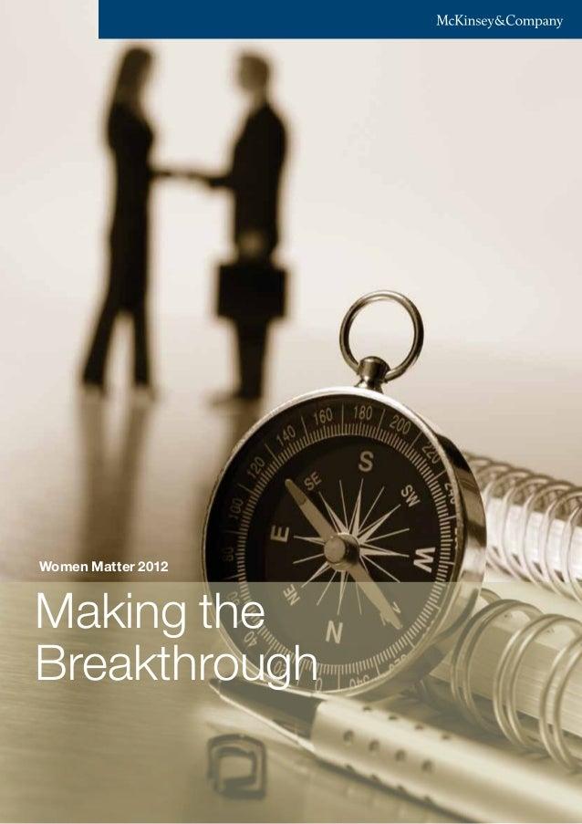 Making the Breakthrough Women Matter 2012