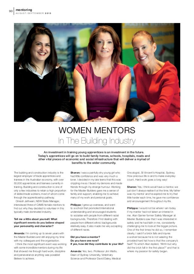 Women Mentors In The Building Industry