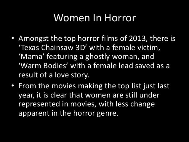 Representation of females within the horror film genre?