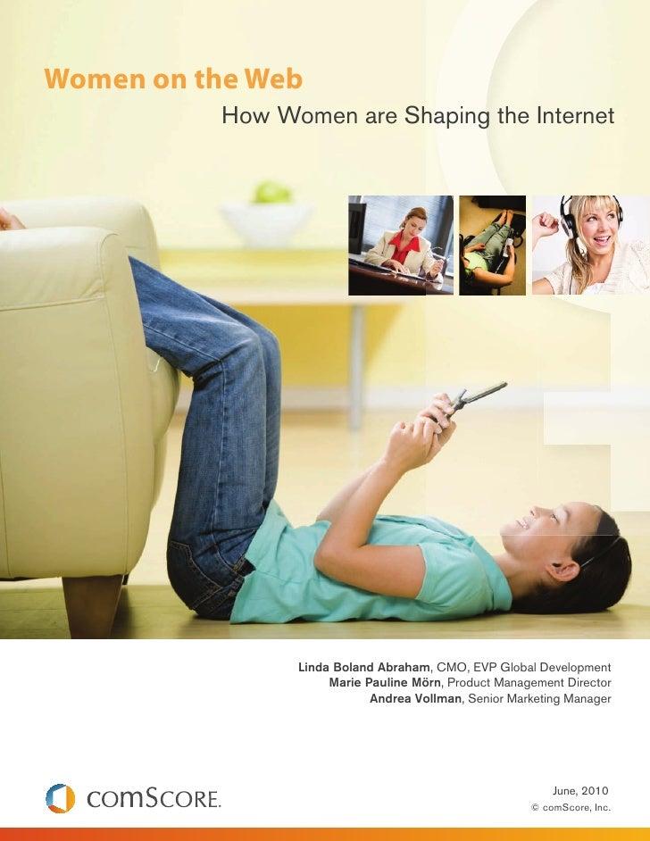 Women on the web Comscore 2010