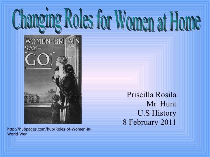 Women roles in wwi