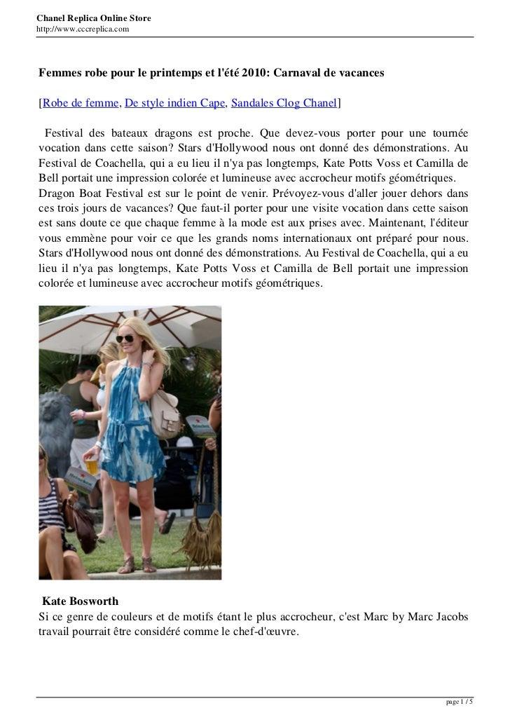 Chanel Replica Online Storehttp://www.cccreplica.comFemmes robe pour le printemps et lété 2010: Carnaval de vacances[Robe ...