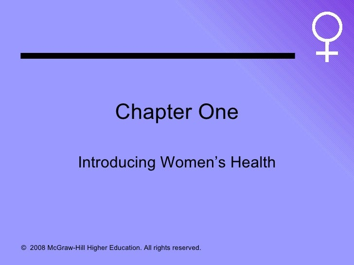 Chapter One Introducing Women's Health