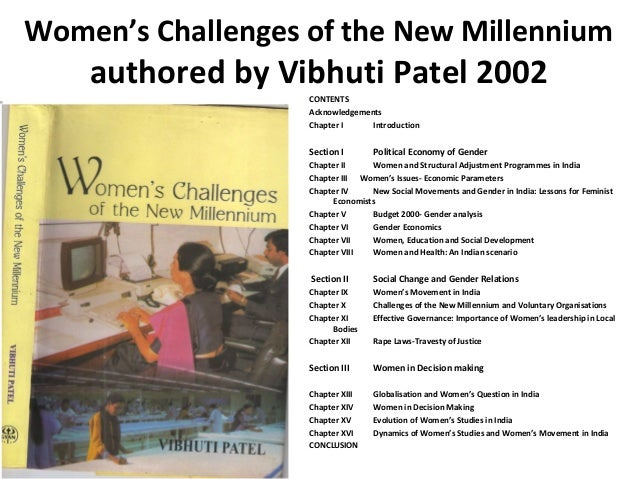 Women's Challenges of the New Millennium    authored by Vibhuti Patel 2002                   CONTENTS                   Ac...