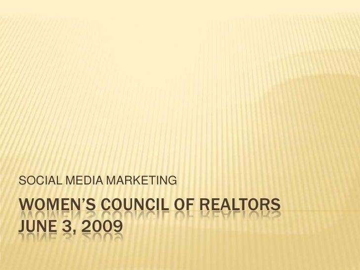 WCR - Social Media Marketing Presentation