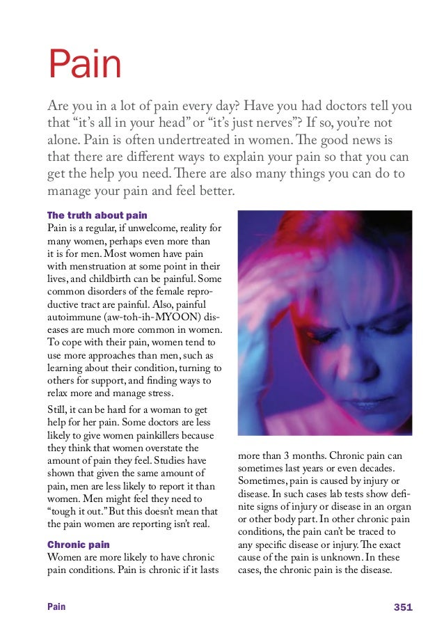"""Pain Are you in a lot of pain every day? Have you had doctors tell you that """"it's all in your head"""" or """"it's just nerves""""?..."""