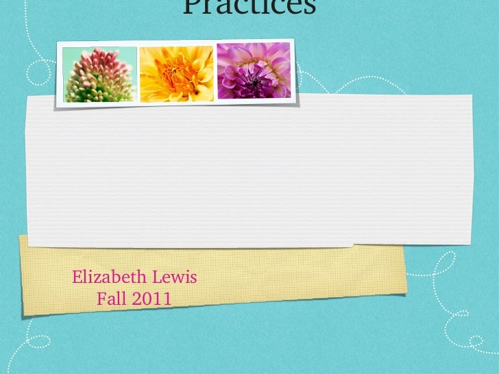 Chapter 5: Complimentary Health Practices <ul><li>Elizabeth Lewis </li></ul><ul><li>Fall 2011 </li></ul>