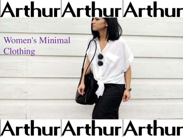 Women 39 s minimal clothing for Minimal art slideshare