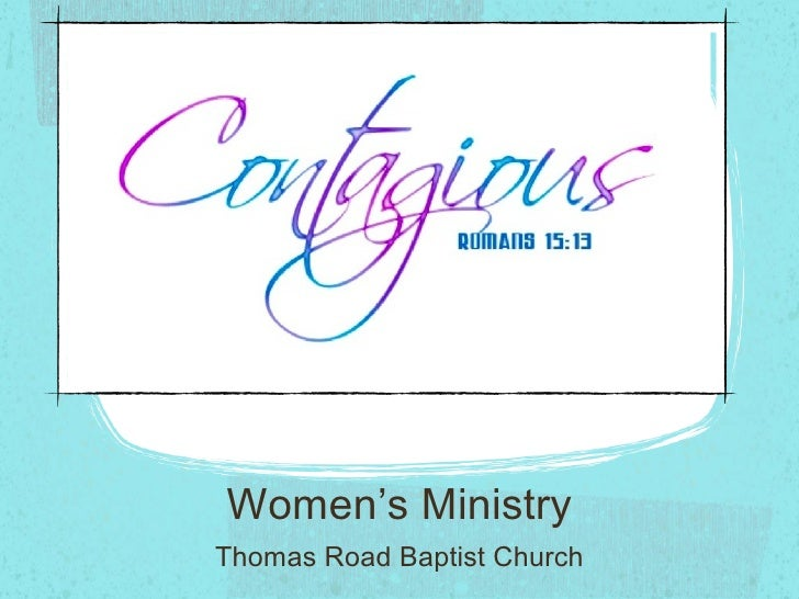 Womens Ministry   Contagious  Joy