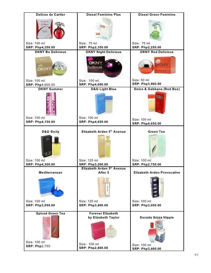 Delices de Cartier       Diesel Feminine Plus         Diesel Green Feminine     Size: 100 ml              Size: 75 ml     ...