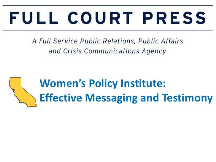 Women's policy institute