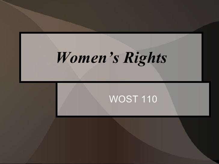 Women's Rights WOST 110