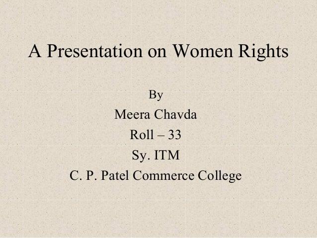 Women's rights presentation