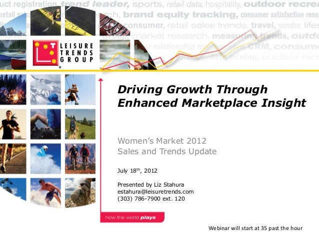 Driving Growth ThroughEnhanced Marketplace InsightWomen's Market 2012Sales and Trends UpdateJuly 18th, 2012Presented by Li...