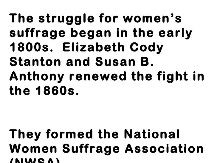 Woman suffrage essay