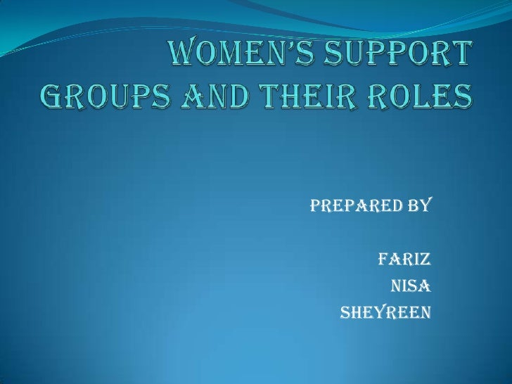 Women's support groups and their roles