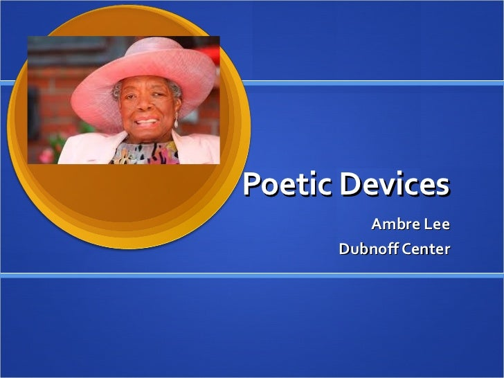 Women working poetic devices
