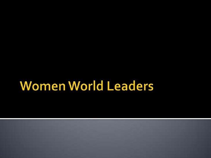 Women World Leaders 3rd Period Guyer