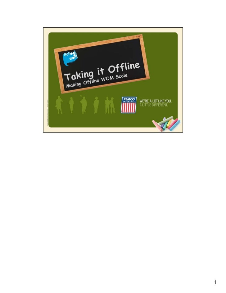 """""""Taking It Offline"""" (With Speaker's Notes)"""