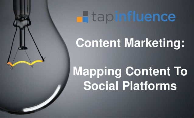 Content Marketing: Mapping Content To Social Platforms