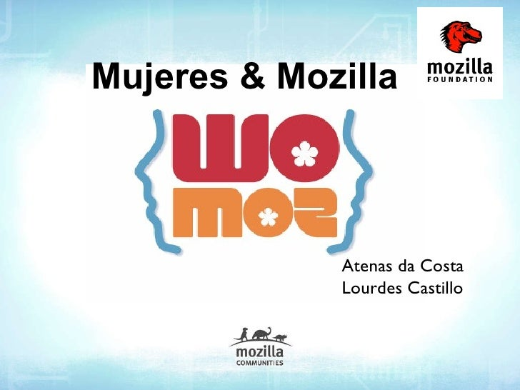 Mujeres & Mozilla Atenas da Costa Lourdes Castillo
