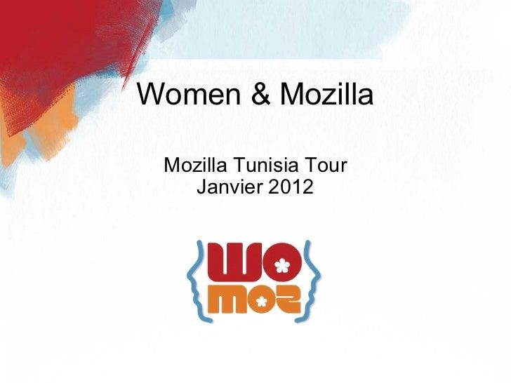 Mozilla Tunisia Tour Janvier 2012 Women & Mozilla
