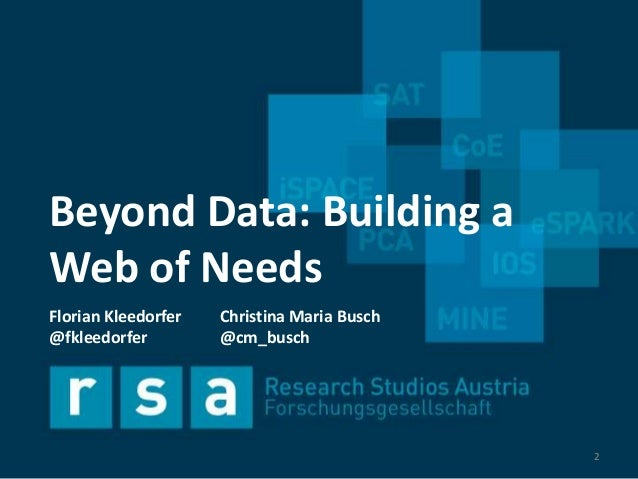 Beyond Data: Building a Web of Needs