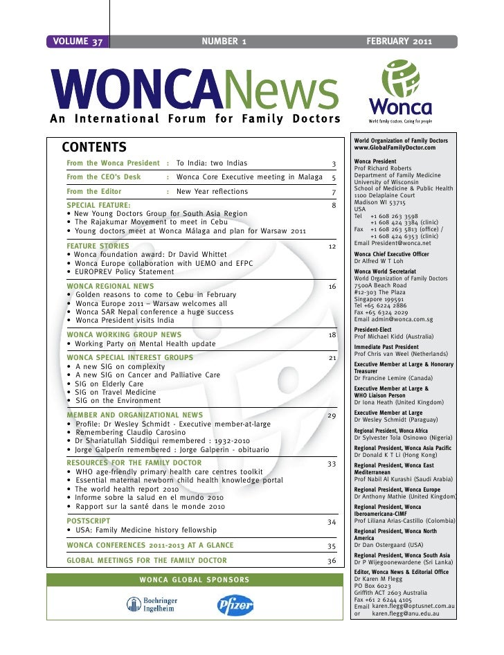 Wonca news feb_2011