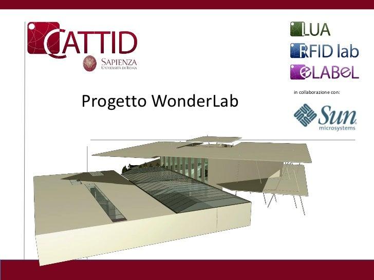 in collaborazione con:Progetto WonderLab