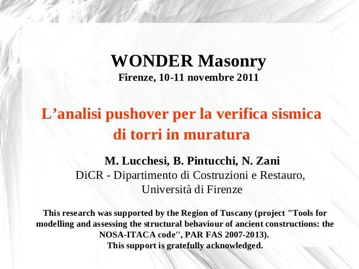Wonder masonry zani