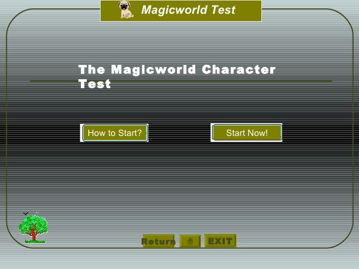 Return The Magicworld Character  Test How to Start? Start Now!