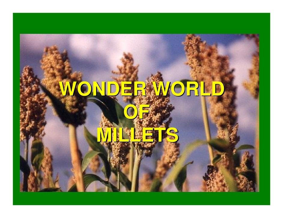 WONDER WORLD     OF   MILLETS