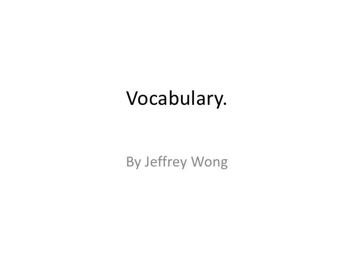Wong 20 Vocab