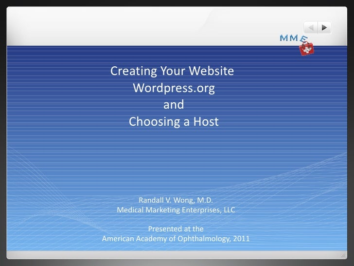 """Creating Your First Site:  Using Wordpress.org and """"Self Hosting"""""""