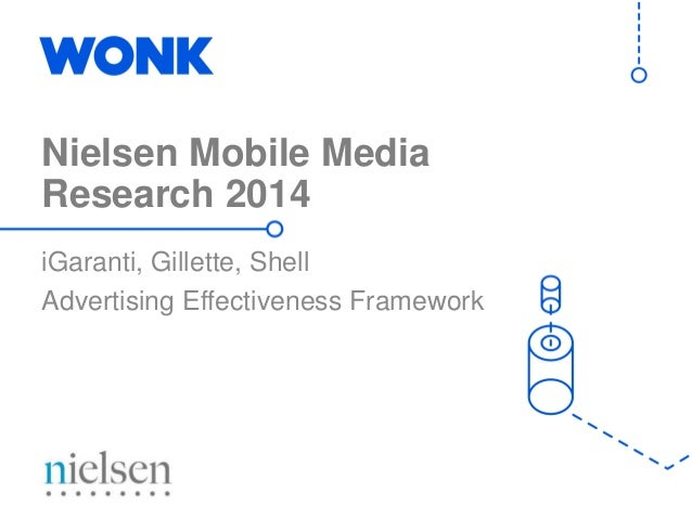 Nielsen Mobile Media Research 2014 iGaranti, Gillette, Shell Advertising Effectiveness Framework