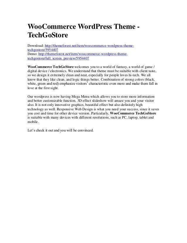 WooCommerce WordPress Theme TechGoStore Download: http://themeforest.net/item/woocommerce-wordpress-themetechgostore/59544...