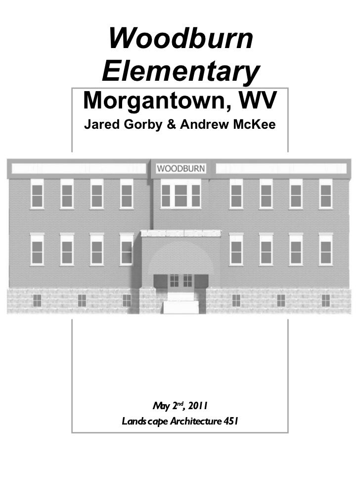 Woodburn Elementary Morgantown, WV Jared Gorby & Andrew McKee May 2 nd , 2011 Landscape Architecture 451