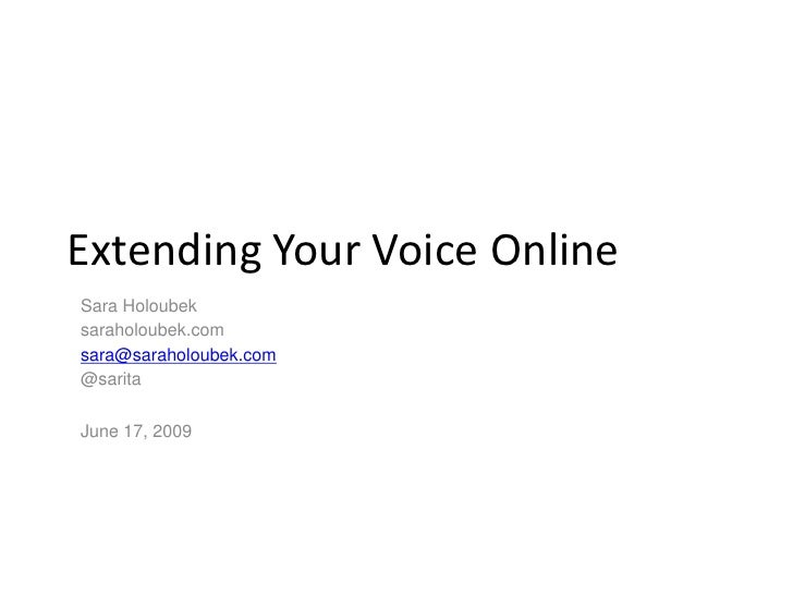 Extending Your Voice Online: Navigating the Social Web