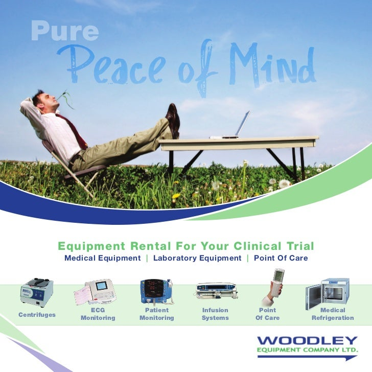 Pure               Peace of Mind              Equipment Rental For Your Clinical Trial               Medical Equipment   L...