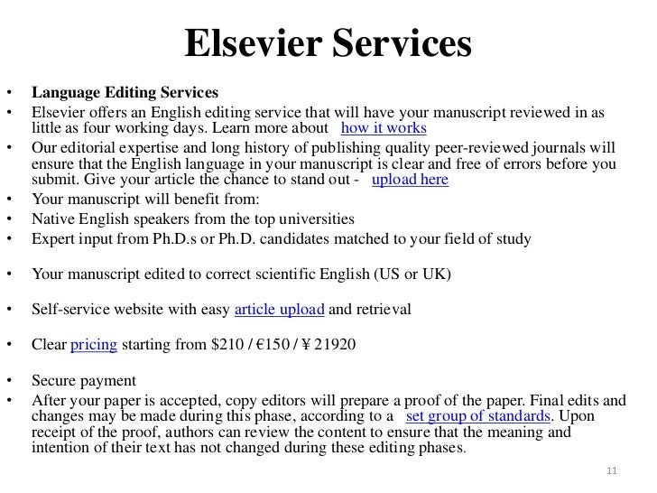 Elsevier language editing