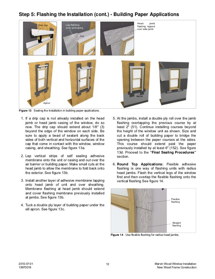 Marvin wood window installation instructions for Installing replacement windows