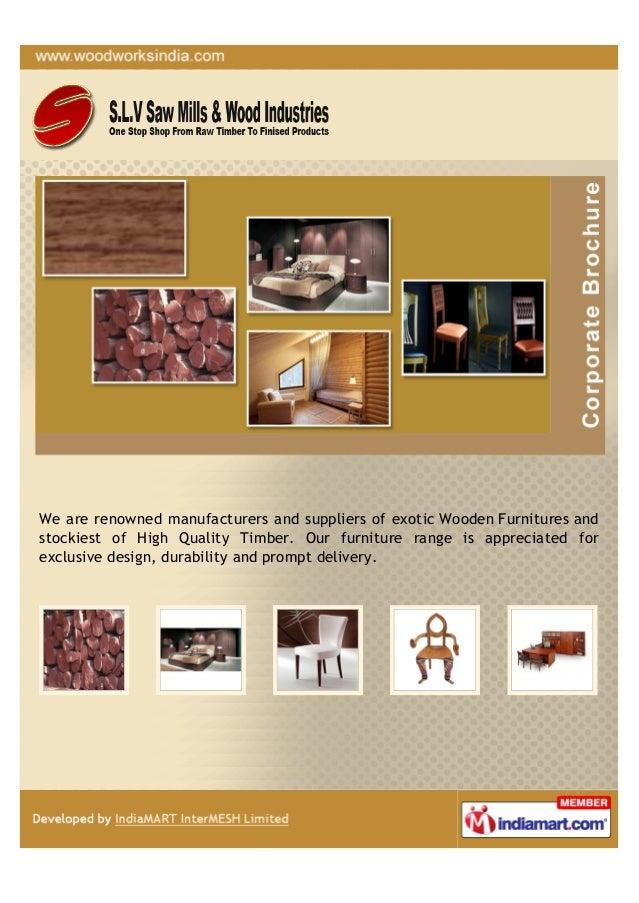 S.L.V. Saw Mills & Wood Industries, Bangalore, White Saal Wood
