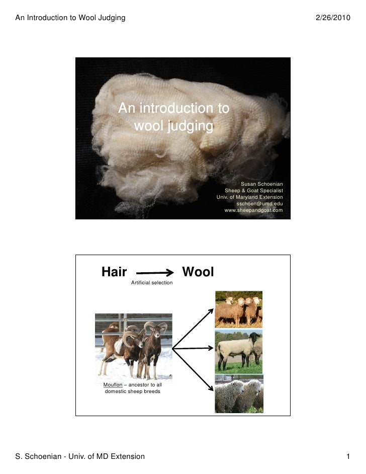 An Introduction to Wool Judging                                                                2/26/2010                  ...