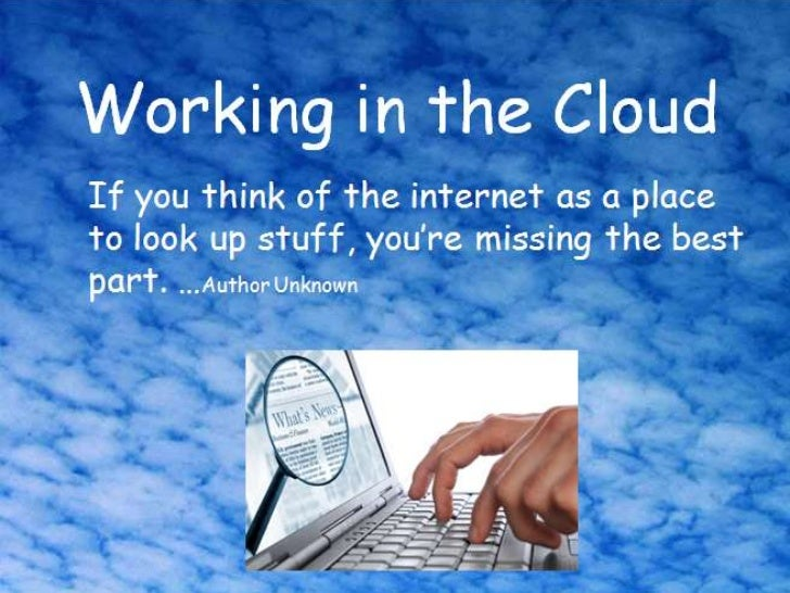 Housekeeping   1. Working in the cloud                    Contact Manager                    File Storage                 ...