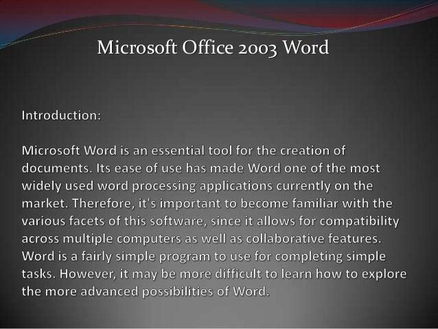 Microsoft Office 2003 Word