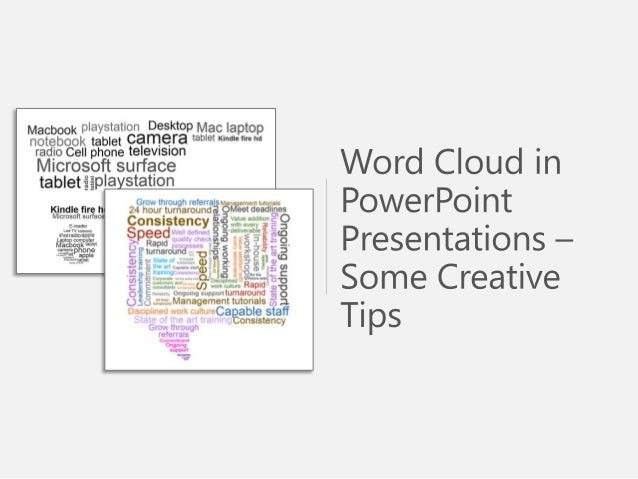 Sample Use of Word Cloud - PowerPoint Presentations