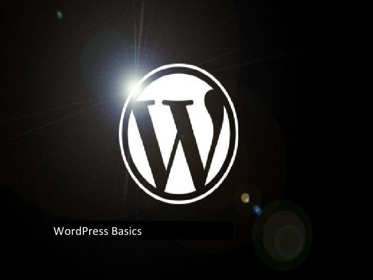 Word Press Basics