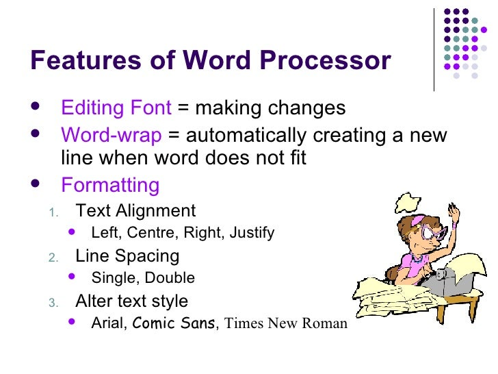 an analysis of the characteristics of word processing programs Unit-1 introduction to word processor, spreadsheet characteristics word processing unit-1 introduction to word processor, spreadsheet and presentation tools.